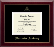 Worcester Academy Diploma Frame - Gold Embossed Diploma Frame in Gallery