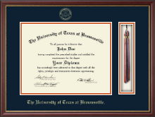 University of Texas at Brownsville Diploma Frame - Tassel Diploma Frame in Newport