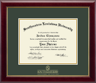 Southeastern Louisiana University Diploma Frame - Gold Embossed Diploma Frame in Gallery