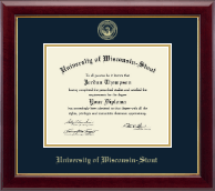 University of Wisconsin-Stout Diploma Frame - Gold Embossed Diploma Frame in Gallery