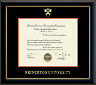 Princeton University Diploma Frame - Gold Embossed Diploma Frame in Onyx Gold