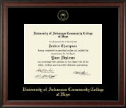University of Arkansas Community College at Hope Diploma Frame - Gold Embossed Diploma Frame in Studio