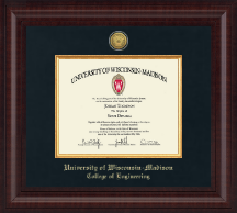 University of Wisconsin Madison Diploma Frame - Presidential Gold Engraved Diploma Frame in Premier