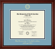 University of North Carolina Chapel Hill Diploma Frame - Gold Embossed Diploma Frame in Cambridge