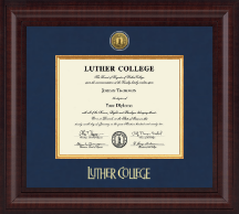Luther College Diploma Frame - Presidential Gold Engraved Diploma Frame in Premier