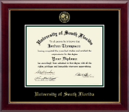 University of South Florida Health Sciences Diploma Frame - Gold Embossed Diploma Frame in Gallery