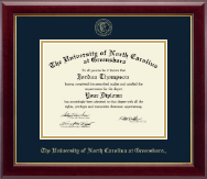 The University of North Carolina Greensboro Diploma Frame - Gold Embossed Diploma Frame in Gallery