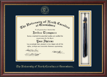 The University of North Carolina Greensboro Diploma Frame - Tassel Diploma Frame in Newport