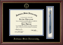 Indiana State University Diploma Frame - Tassel Edition Diploma Frame in Newport
