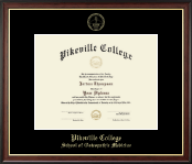 Pikeville College Diploma Frame - Gold Embossed Diploma Frame in Studio Gold