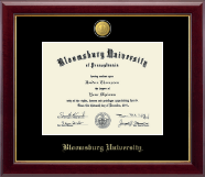 Bloomsburg University Diploma Frame - 23K Medallion Diploma Frame in Gallery