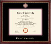 Cornell University Diploma Frame - Masterpiece Medallion Diploma Frame in Kensington Gold