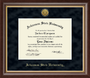 Arkansas State University at Jonesboro Diploma Frame - Gold Engraved Medallion Diploma Frame in Hampshire