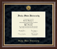 Idaho State University Diploma Frame - Gold Engraved Medallion Diploma Frame in Hampshire