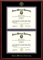 James Madison University Diploma Frame - Double Diploma Frame in Galleria