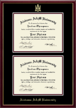 Alabama A & M University Diploma Frame - Double Diploma Frame in Galleria