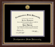 Northwestern State University Diploma Frame - Gold Engraved Medallion Diploma Frame in Hampshire