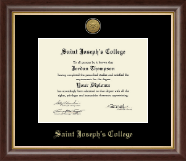 Saint Joseph's College in Indiana Diploma Frame - Gold Engraved Medallion Diploma Frame in Hampshire