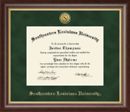 Southeastern Louisiana University Diploma Frame - Gold Engraved Medallion Diploma Frame in Hampshire