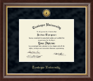 Tuskegee University Diploma Frame - Gold Engraved Medallion Diploma Frame in Hampshire