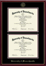 University of Massachusetts Amherst Diploma Frame - Double Diploma Frame in Galleria