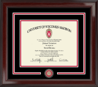 University of Wisconsin Madison Diploma Frame - Masterpiece Medallion Spirit Seal Edition Diploma Frame in Encore