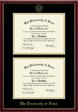 The University of Iowa Diploma Frame - Double Diploma Frame in Galleria