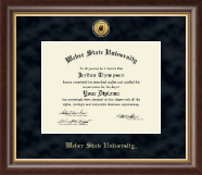 Weber State University Diploma Frame - Gold Engraved Medallion Diploma Frame in Hampshire