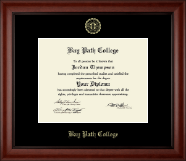 Bay Path College Diploma Frame - Gold Embossed Diploma Frame in Cambridge