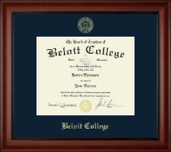 Beloit College Diploma Frame - Gold Embossed Diploma Frame in Cambridge