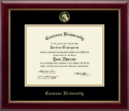 Cameron University Diploma Frame - Gold Embossed Diploma Frame in Gallery