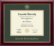 Concordia University - Irvine Diploma Frame - Gold Embossed Diploma Frame in Gallery