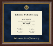 Columbus State University Diploma Frame - Gold Engraved Medallion Diploma Frame in Hampshire
