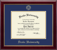 Drake University Diploma Frame - Gold Embossed Diploma Frame in Gallery