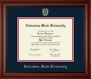 Columbus State University Diploma Frame - Gold Embossed Diploma Frame in Cambridge