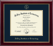 DeVry Institute of Technology Diploma Frame - Embossed Diploma Frame in Gallery