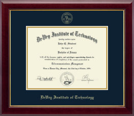 Devry Institute Of Technology Diploma Frames Church