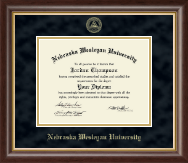 Nebraska Wesleyan University Diploma Frame - Gold Embossed Diploma Frame in Hampshire