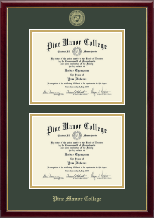 Pine Manor College Diploma Frame - Double Diploma Frame in Galleria