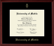 University of Mobile Embossed Frame - Gold Embossed Diploma Frame in Camby