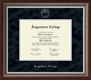 Augustana College Illinois Diploma Frame - Silver Embossed Diploma Frame in Devonshire