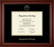 Augustana College Illinois Diploma Frame - Gold Embossed Diploma Frame in Cambridge
