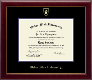 Weber State University Diploma Frame - Gold Embossed Diploma Frame in Gallery