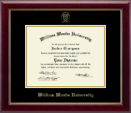 William Woods University Diploma Frame - Gold Embossed Diploma Frame in Gallery