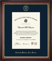 United States Air Force Certificate Frame - Gold Embossed Certificate Frame in Regency Gold