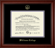 Williams College Diploma Frame - Gold Embossed Diploma Frame in Cambridge
