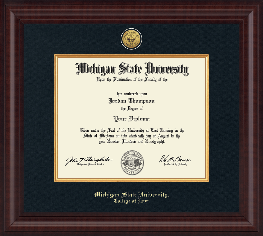 Michigan State University Presidential Gold Engraved Diploma Frame ...