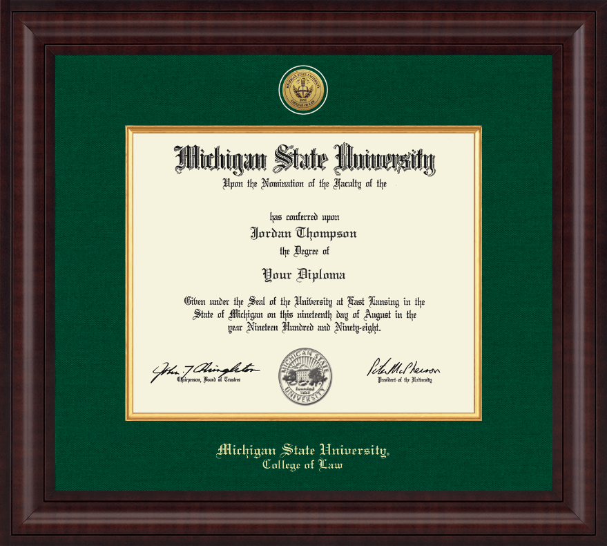 Michigan State University Presidential Gold Engraved