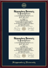 Shippensburg University Double Diploma Frame - Double Diploma Frame in Galleria