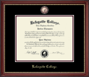 Lafayette College Diploma Frame - Masterpiece Medallion Diploma Frame in Kensington Gold